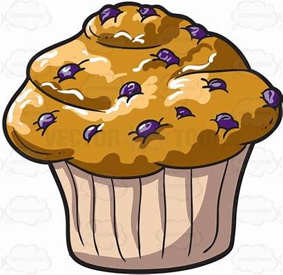 Muffin Muffins Blueberry Clipart Clip Cartoon Vectortoons