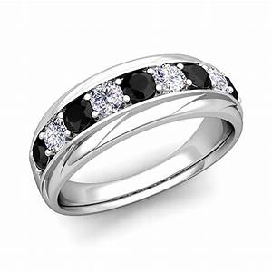 his and hers wedding band platinum black diamond wedding rings With his and hers black diamond wedding rings