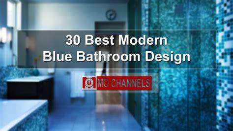 modern blue bathroom design youtube