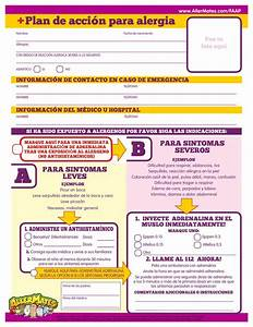 allergy action plan spanish school nursing allergies With allergy action plan template