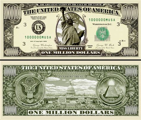 million dollar the original million dollar miss liberty bill 25 ea