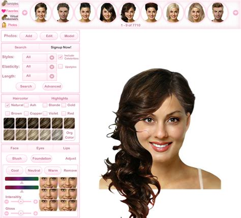 the best virtual makeovers for hairstyles and makeup