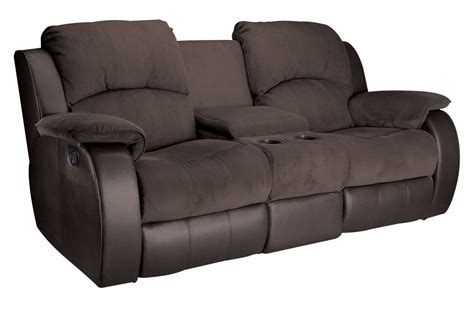 Reclining Console Loveseat by Lorenzo Microfiber Reclining Loveseat With Console