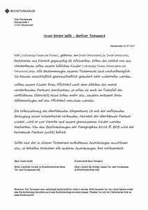 Sich Selber Erstellen : testament muster wie schreibe ich ein testament ~ Buech-reservation.com Haus und Dekorationen