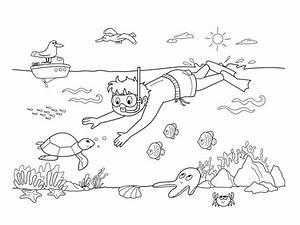 Comment Dessiner La Mer : coloriage mer des dessins imprimer ~ Dallasstarsshop.com Idées de Décoration