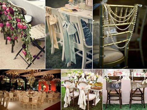 d 233 coration des chaises pour votre mariage fantaisie wedding planner wedding d 233 co