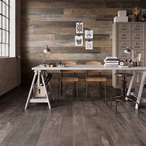 Tile Ideas For Kitchen Walls - wood look tile 17 distressed rustic modern ideas