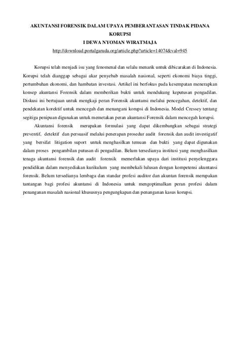 Review jurnal akuntansi forensik uas pp_ak kelas malam