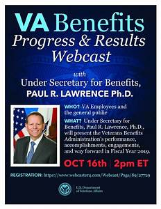 Under Secretary For Benefits Live  U201cprogress And Results