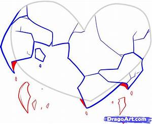 Draw Broken Hearts, Step by Step, Drawing Sheets, Added by ...
