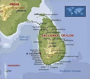 Sri Lanka Map Indian Ocean