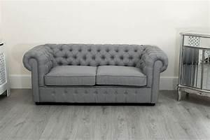 Sofa 3 2 1 : chesterfield sofa suite 3 2 and 1 seater in grey linen fabric abreo home furniture ~ Eleganceandgraceweddings.com Haus und Dekorationen