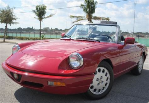 1993 Alfa Romeo Spider For Sale by 1993 Alfa Romeo Spider Veloce Convertible 2 0l 4cyl Aut