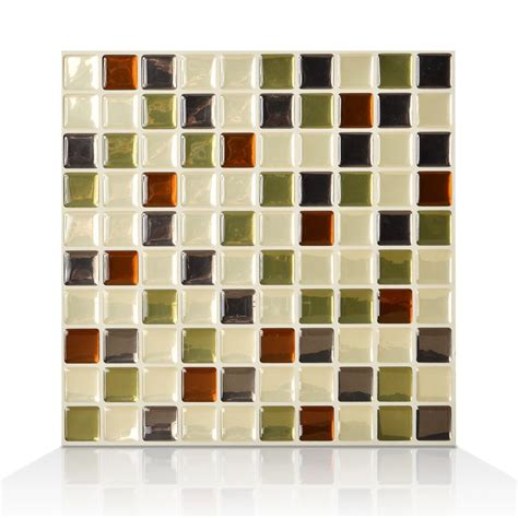 Idaho Mosaik Smart Tiles by Smart Tiles 1 9 85 Inch X 9 85 Inch Peel And Stick