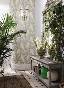 Tapete Grau Grün : wallpaper tapete floral grau mit farn gelb gr n landhausstil wintergarten berlin von ~ Eleganceandgraceweddings.com Haus und Dekorationen