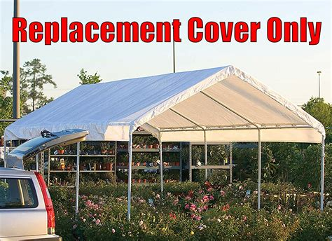 feet roof top cover white tarp  replacement outdoor canopy heavy duty econosuperstore
