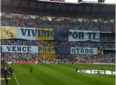 Tifos en el Bernabeu Real Madrid LIVE