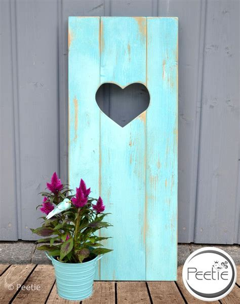 Shabby Chic Türkis by Shabby Vintage Decoration Door Wood Door Turquoise