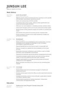 Junior Accountant Resume Samples Visualcv Resume Samples