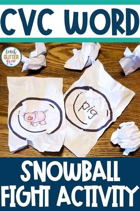 cvc word snowball fight activity    images