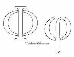 greek letter phi free stencil gallery With greek letter stencils