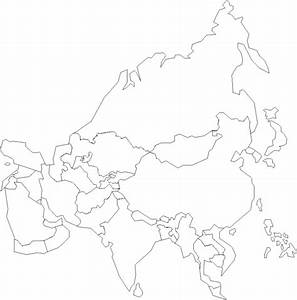 Labeled Outline Map Of Asia And Travel Information