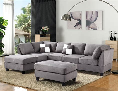 3 discount gray microfiber sectional sofa set with microfiber sectional image of large microfiber sectional