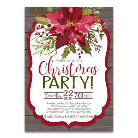 rustic christmas invitation rustic christmas party invite