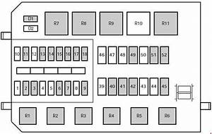 Mercury Mystique  1995 - 2000  - Fuse Box Diagram
