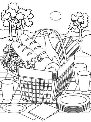picnic coloring pages  getcoloringscom  printable colorings pages  print  color