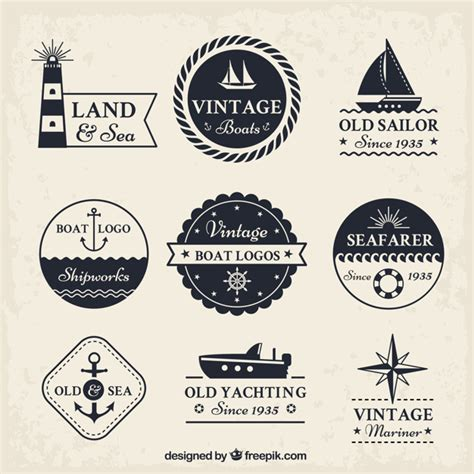 Boat Show Logo by Vintage Boat Logo Collection Vector Free