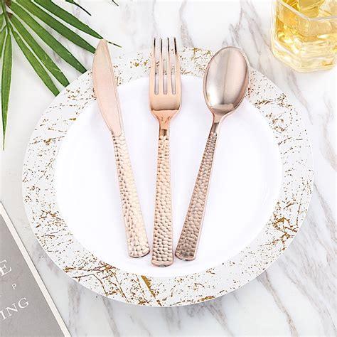 elegant textured design disposable plastic party forks
