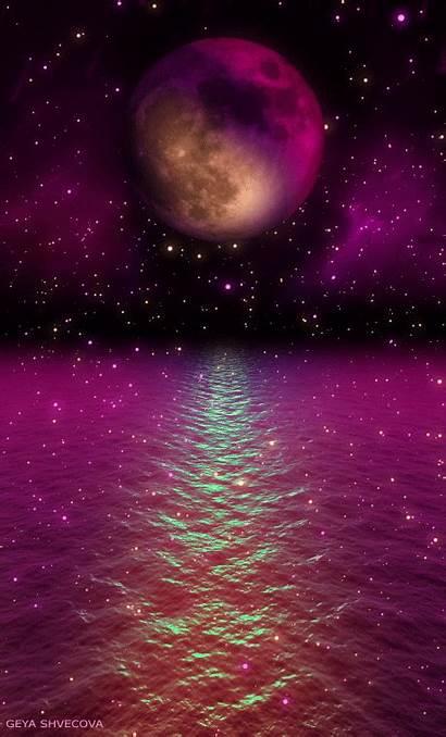 Purple Shvecova Moon Iphone Night Summer Ocean