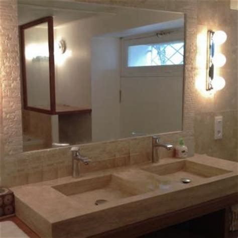 plan de travail cuisine en naturelle plan vasque en borghèse pour salle de bain