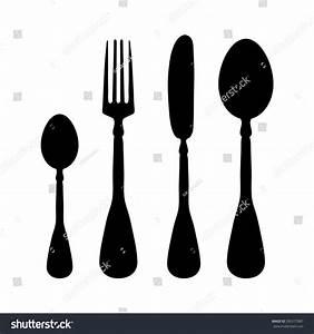 Fork, Knife, Spoon - Vector Icon - 295377887 : Shutterstock