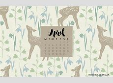 Free Desktop Calendar April 2016 Berice Baby London