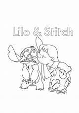 Lilo Stitch Dibujos Coloring Kissing Colorear Sticth Besando Beijando Printable Characters Colorir Categorias Dibujosonline Pintar Colorironline A4 Desenhos sketch template