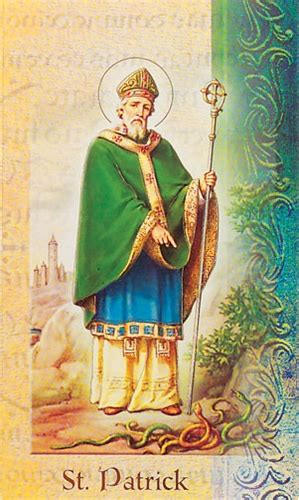 st patrick biography prayer card