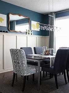 Mur Bleu Pétrole : d co salon bleu canard paon p trole du goudron et des plumes obsigen ~ Melissatoandfro.com Idées de Décoration