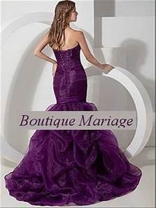robe de mariee coupe sirene couleur parme rouge avec traine With boutique mariage avec bijoux occasion