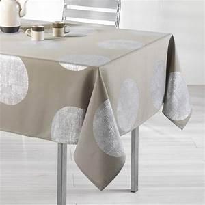 Nappe De Table Rectangulaire : nappe rectangulaire taupe table de cuisine ~ Teatrodelosmanantiales.com Idées de Décoration