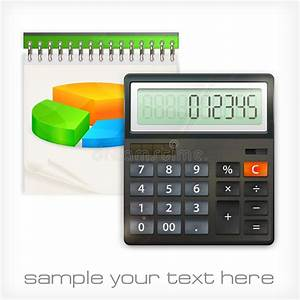 Calculator  U0026 Notepad Diagram Stock Vector