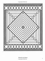 Coloring Books Quilt Pages Patchwork Traditional Designs Dover Pattern Geometric Adult Quilting Creative sketch template
