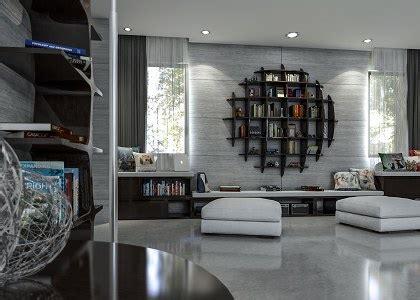 models living room modern concrete living room