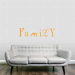 family 2 wall art decals With wallums wall decals
