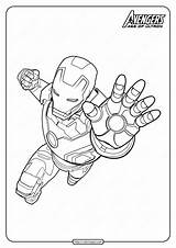 Coloring Pages Marvel Iron Avengers Pdf Superhero sketch template