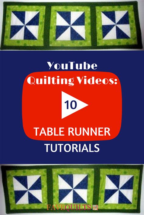 youtube quilting   table runner tutorials