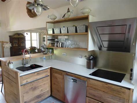 cuisines inox cuisiniste avignon 84 cuisine en chêne plan travail