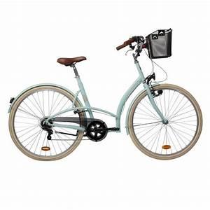 B Twin Fahrrad Test : velo ville elops 320 vert decathlon ~ Jslefanu.com Haus und Dekorationen