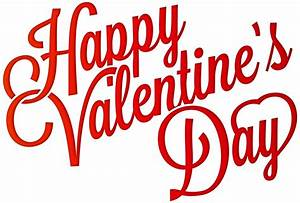 Red Happy Valentine's Day PNG Clip-Art Image   Gallery ...